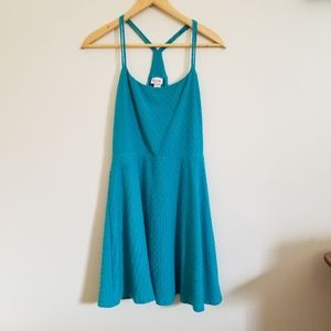 Teal casual racer back dress